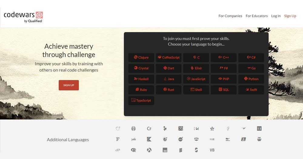 Website Codewars mở ra các chương trình học sáng tạo