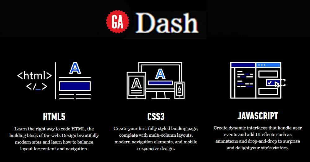 Web dạy code GA Dash