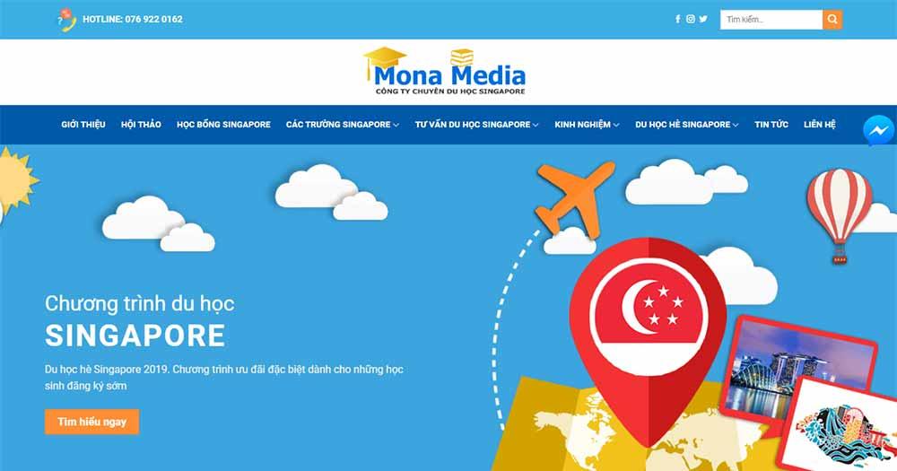 Mẫu thiết kế website du học Singapore