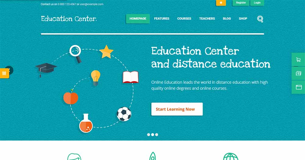 Education Center theme