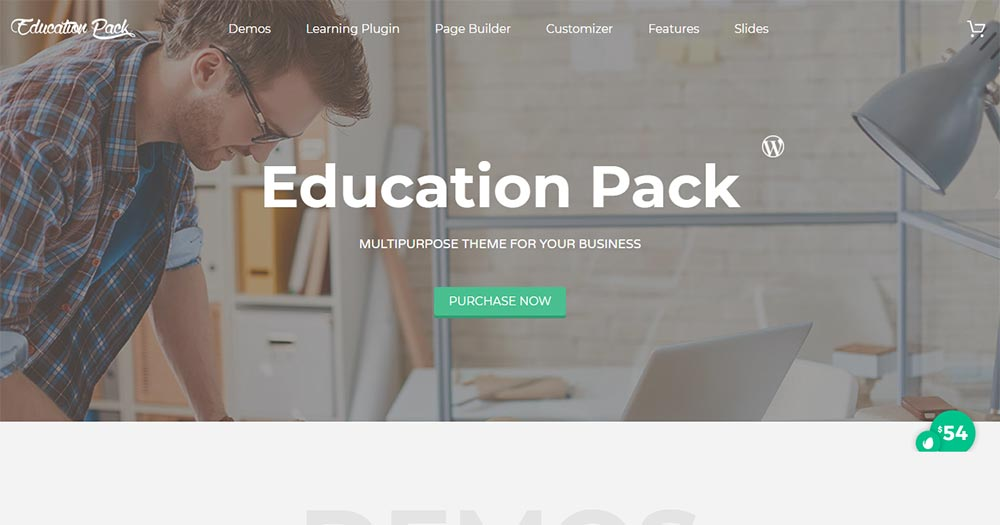 Website giáo dục Education Pack