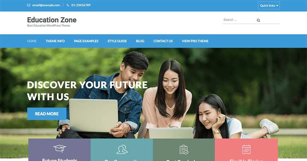 Theme WordPress Giáo dục Education Zone
