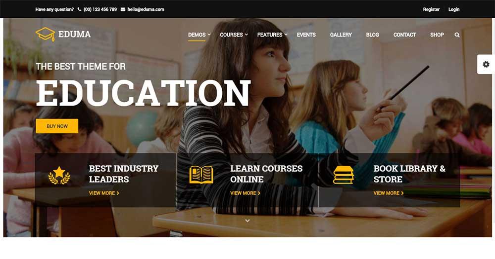 Mẫu website trường học Education