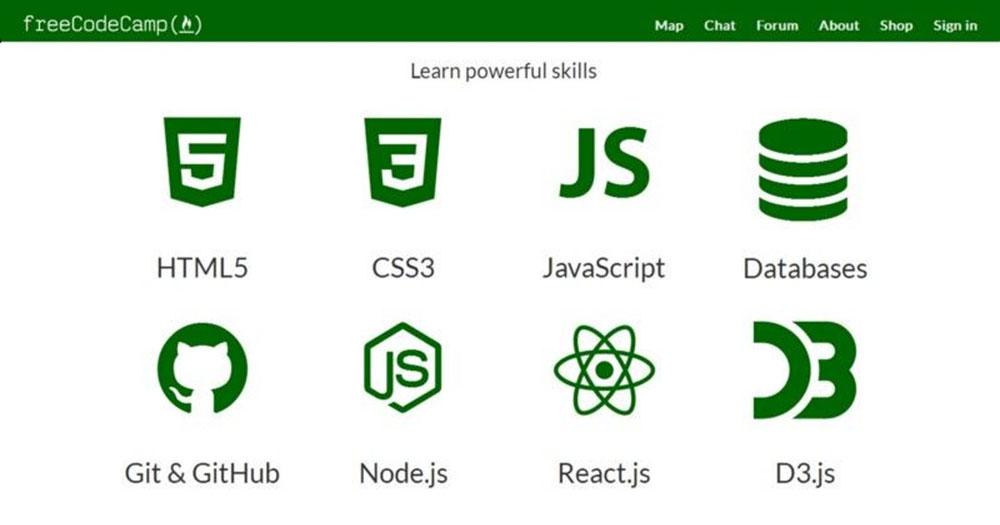 Free Code Camp mang tới nhiều nội dung bài học hữu ích