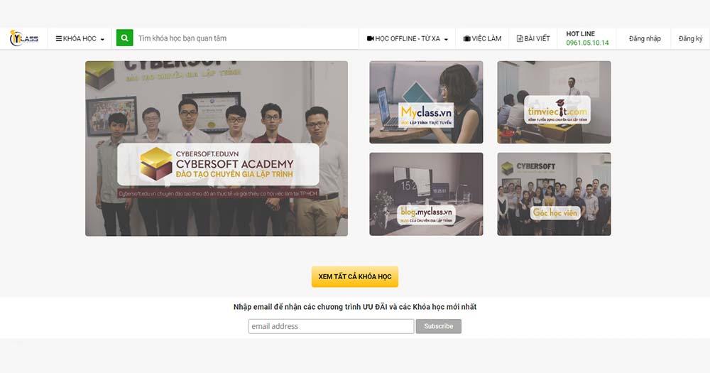 Website học code tiếng Việt MyClass
