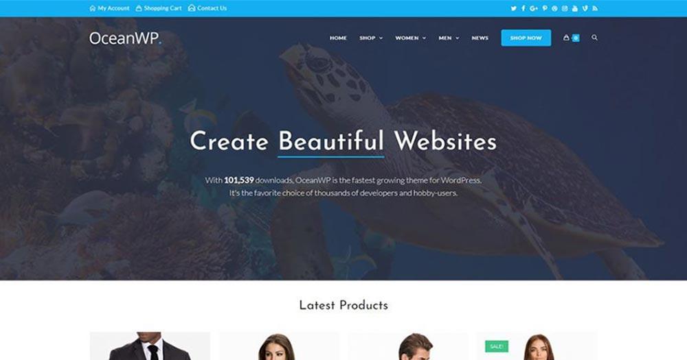 Template WordPress Ocean WP