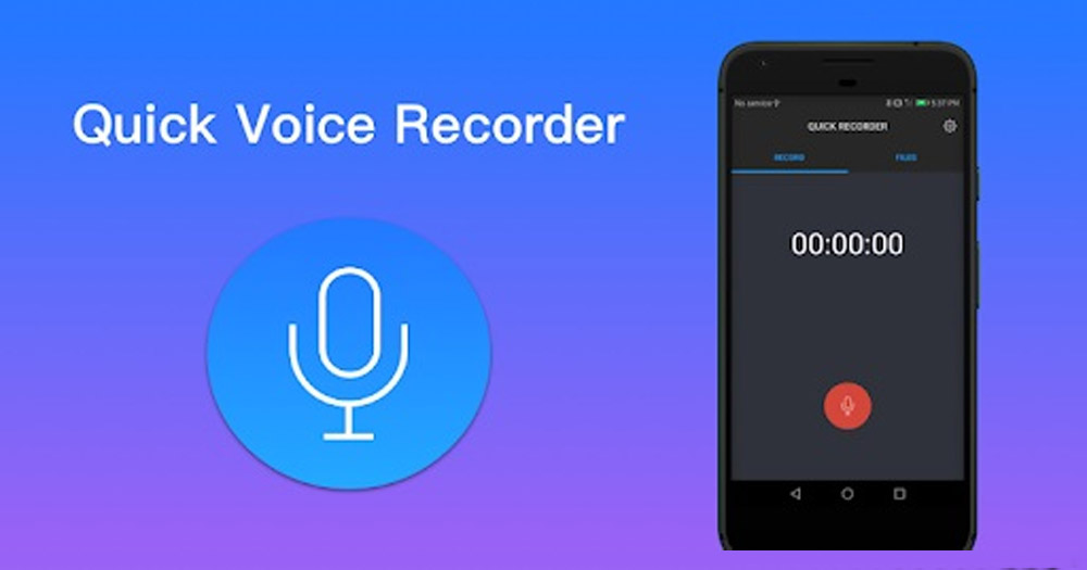 Ứng dụng Quick Voice Recoder