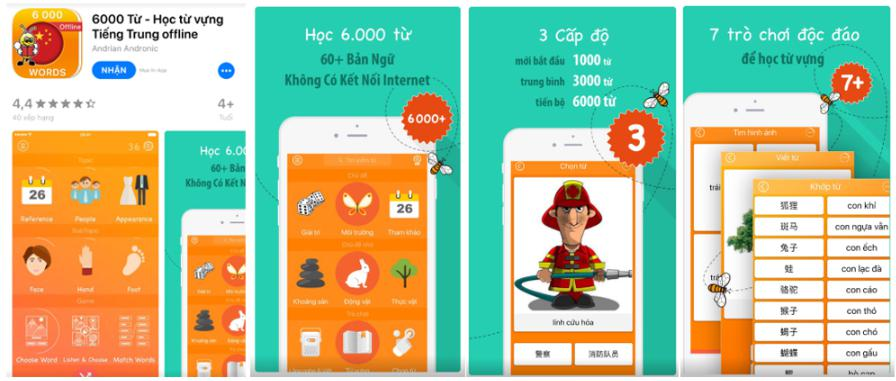 App học tiếng Trung 6000 words - Fun easy learn